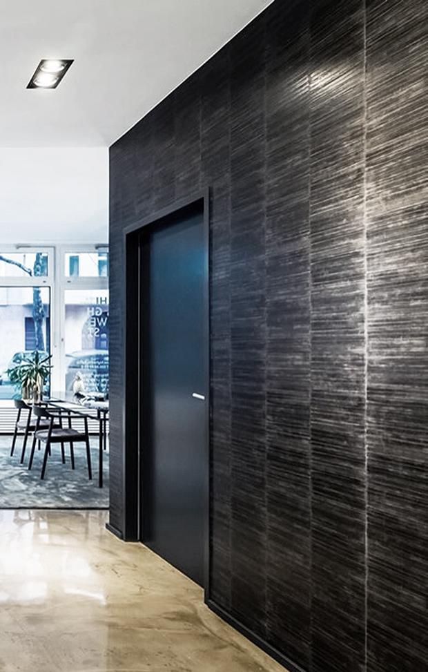 luxus tapeten im showroom mfg. Black Bedroom Furniture Sets. Home Design Ideas